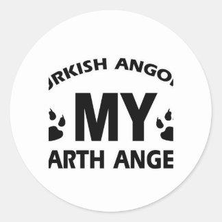 TURKISH ANGORA cat design Round Sticker