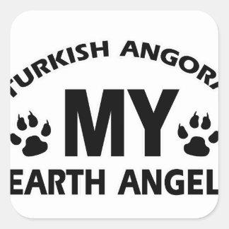 TURKISH ANGORA cat design Square Sticker