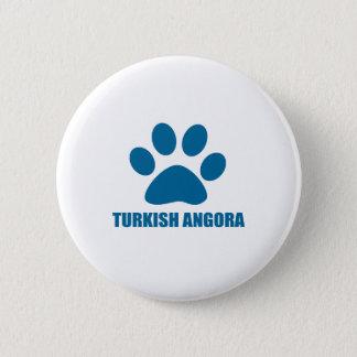 TURKISH ANGORA CAT DESIGNS 2 INCH ROUND BUTTON