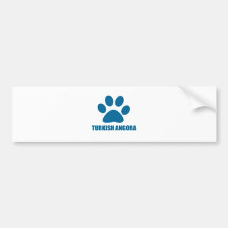 TURKISH ANGORA CAT DESIGNS BUMPER STICKER