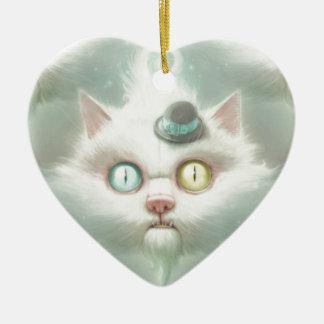 Turkish angora ceramic heart ornament