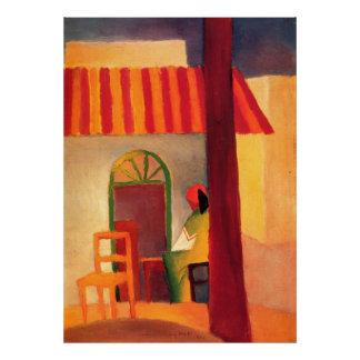 Turkish Cafe by August Macke 1914 Print