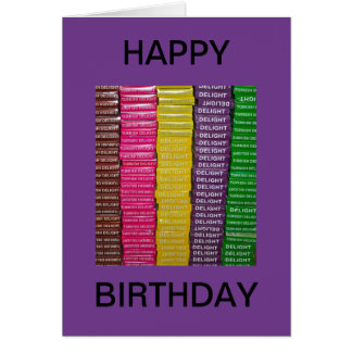 Turkish Delight Boxes Happy Birthday Card
