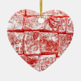 Turkish Delight Ceramic Heart Ornament