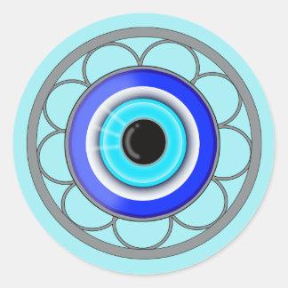 Turkish Evil Eye Good Luck Charm - Round Sticker