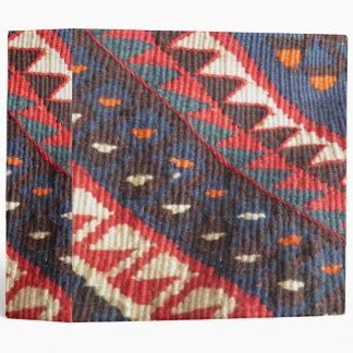Turkish Exotic Bohemian Boho Ethnic Persian Carpet Vinyl Binders