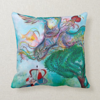 TURKISH FAIRY TALE / PHOENIX AND ARCHER ,Green Pillow