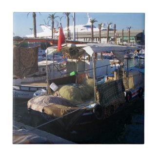 Turkish Fishing Boats Ceramic Tiles