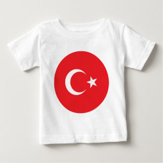 Turkish Flag Circle Baby T-Shirt