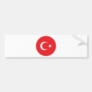 Turkish Flag Circle Bumper Sticker