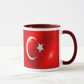 Turkish Flag With Bubble Mug