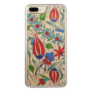 Turkish floral design carved iPhone 8 plus/7 plus case