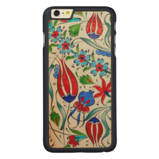 Turkish floral design carved maple iPhone 6 plus case