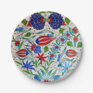 Turkish floral design paper plate