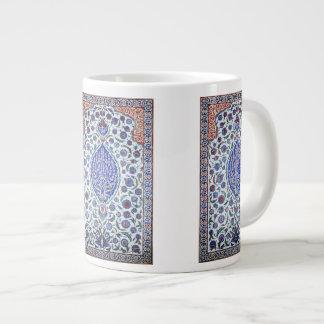 Turkish floral tiles jumbo mug