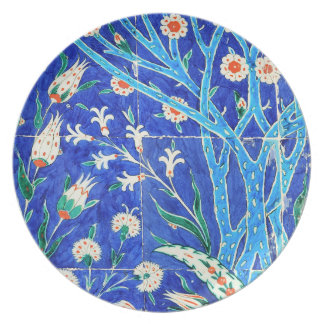 Turkish floral tiles party plates
