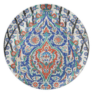 Turkish floral tiles plate