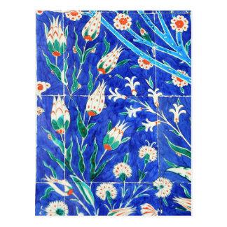 Turkish floral tiles postcard