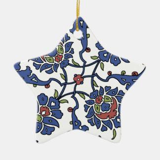 Turkish garden flower composition 1 ceramic star ornament