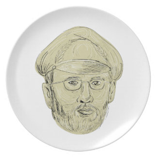 Turkish General Head Drawing Party Plates