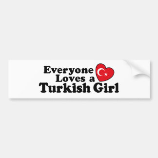 Turkish Girl Bumper Sticker