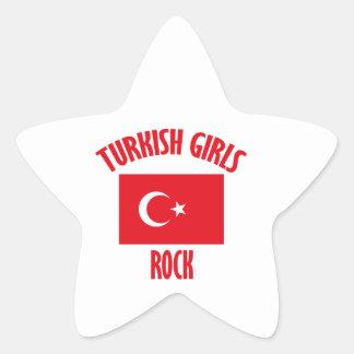 Turkish girls DESIGNS Star Sticker