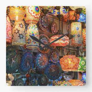 Turkish Glass Lamps for Sale in Istanbul Market Square Wall Clock