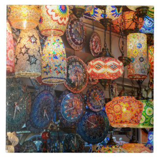 Turkish Glass Lamps for Sale in Istanbul Market Tile