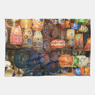 Turkish Glass Lamps for Sale in Istanbul Market Towel