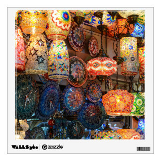 Turkish Glass Lamps for Sale in Istanbul Market Wall Decal