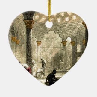 Turkish Hamam Ceramic Heart Ornament