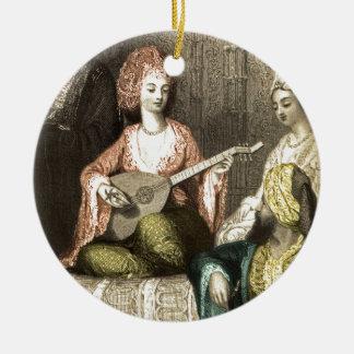 Turkish Harem 1 Round Ceramic Ornament