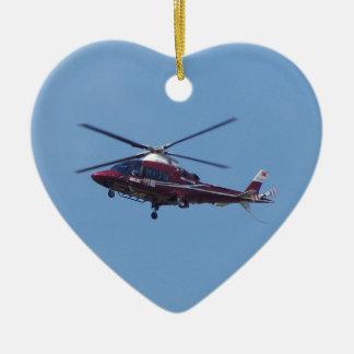 Turkish helicopter ambulance. ceramic heart ornament