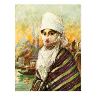 Turkish Lady in Traditional Costume Postcard