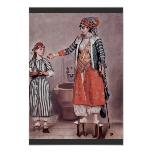Turkish Lady With Maid By Liotard Jean-ÉTienne (B Poster