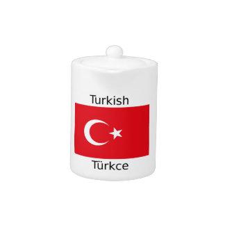 Turkish Language And Turkey Flag Design