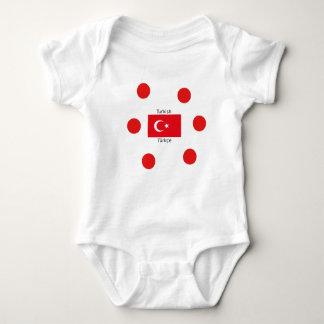 Turkish Language And Turkey Flag Design Baby Bodysuit
