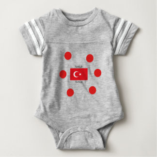 Turkish Language And Turkey Flag Design Baby Bodysuit
