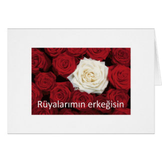 TURKISH LOVE 'You're the man of my dreams' Card