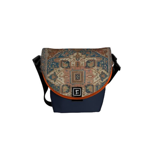 Turkish medallion rug messenger bag