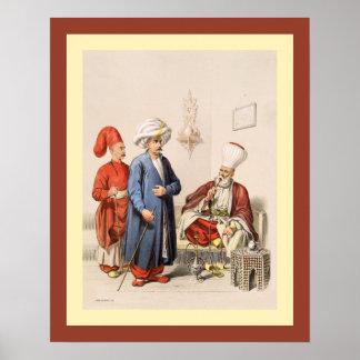 Turkish~Ottoman Empire~ Istanbul~ Jean Brindesi ~ Poster