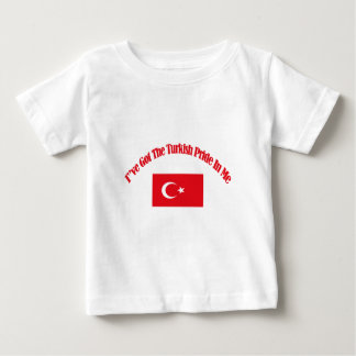 turkish patriotic flag designs baby T-Shirt