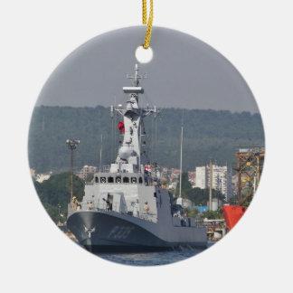Turkish Patrol Boat Round Ceramic Ornament