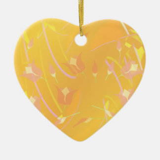Turkish Poppy Ceramic Heart Ornament