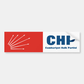 Turkish Repuplican Party CHP Bumper Sticker