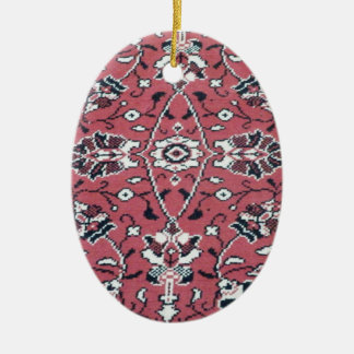 Turkish Rug Ceramic Oval Ornament