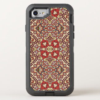 Turkish Rug in Red, Beige and Black OtterBox Defender iPhone 7 Case