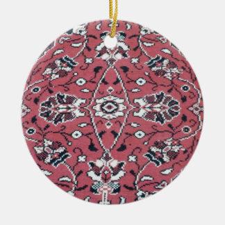 Turkish Rug Round Ceramic Ornament