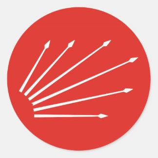 Turkish Six Arrows Round Sticker