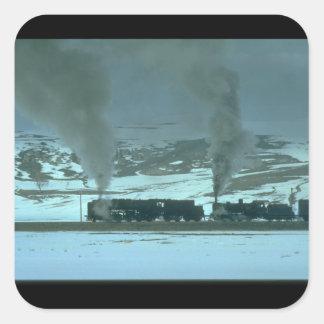 Turkish steam powers a freight_Steam Trains Square Sticker
